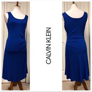 CALVIN KLEIN BLUE SLEEVELESS DRESS